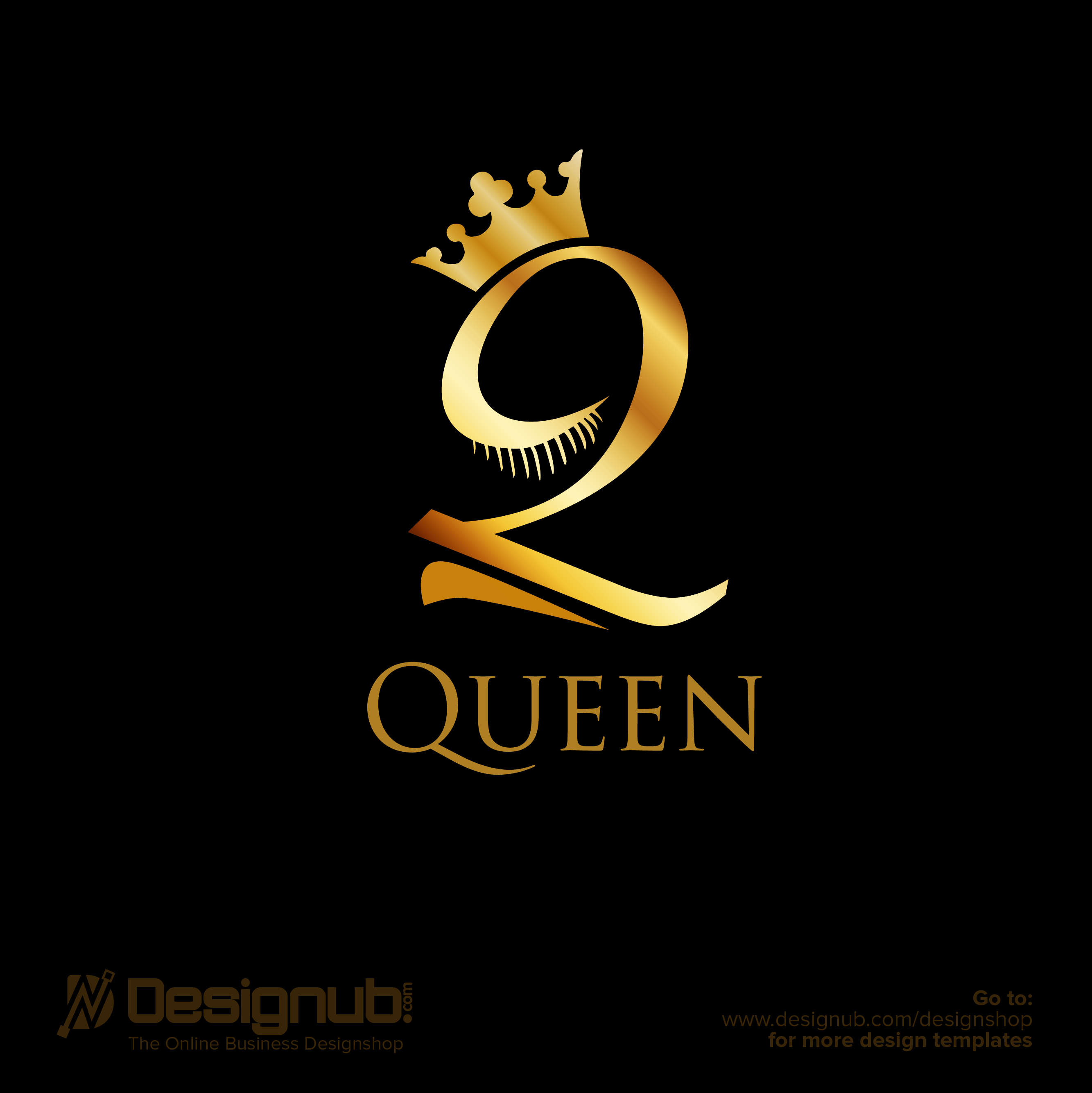 Beauty Queen Logo Design Template | Designub