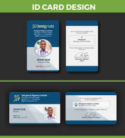 Two 2 Id Card Design Template Designub