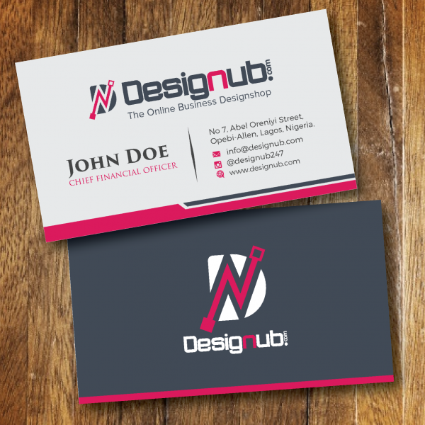 A Generic Business Card Design Template Designub - Generic business card template