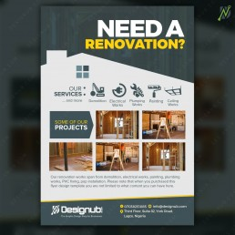 Renovation flyer design template