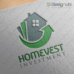 homevest logo design template-01